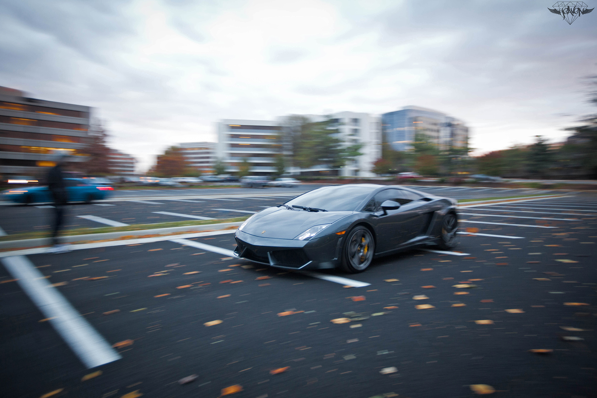 Cold day, warm Lamborghini